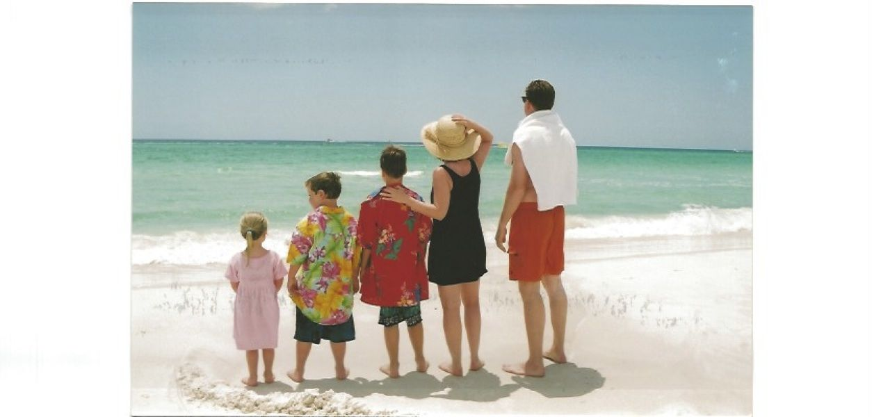 Family at the beach - us!